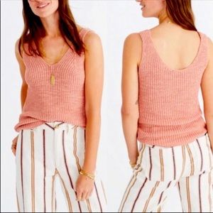 Madewell Monterey Knit Sweater Tank Pink